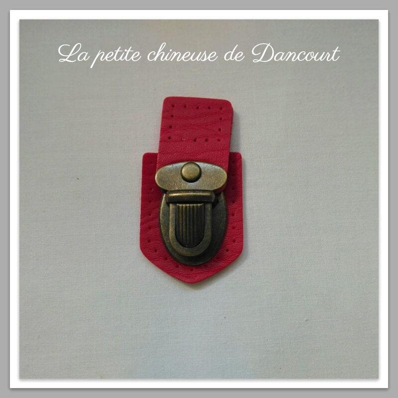 Fermoir cartable Inazuma rouge la petite chineuse de Dancourt