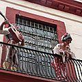 musiciens au balcon