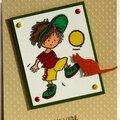 carte d'anniversaire garçon thème ballon