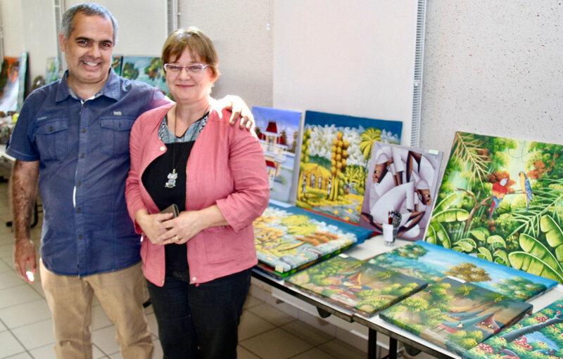 LANDOUZY 2019 HAÏTI EXPOSITION DOMINIQUE MAGALHAES DE MORAIS épouse