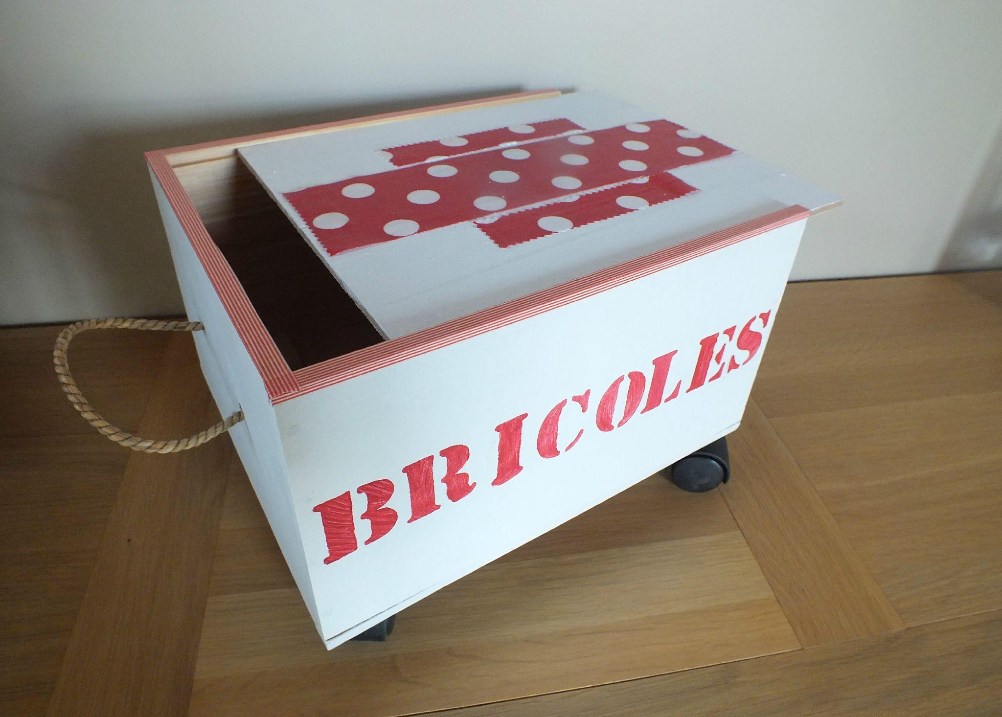 Caisse Bois À Roulettes idée rangement-récup : faire un petit chariot à roulettes
