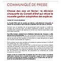 Communiqué de presse fdc80