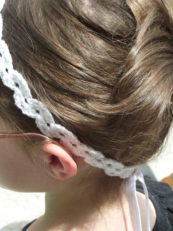 Bandeau crochet coton Fifty blanc 6