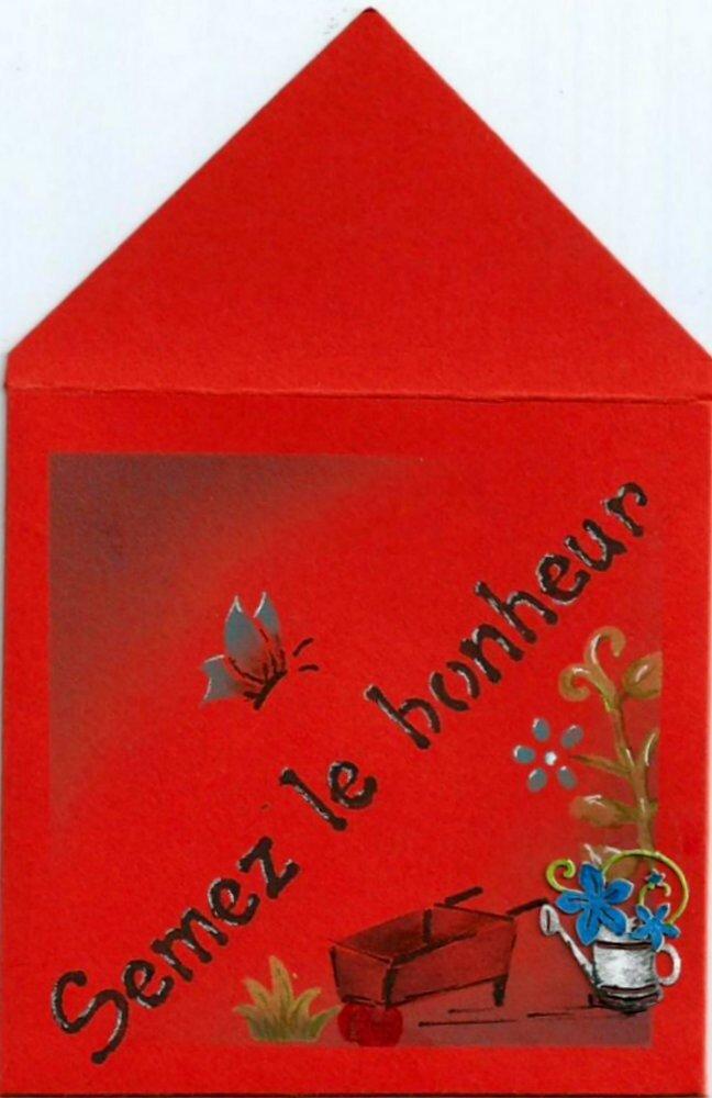 enveloppe cadeau de table ou autre