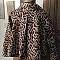 Veste VICTORINE en toile de coton imprimé léopard - Doublure de satin noire (4)