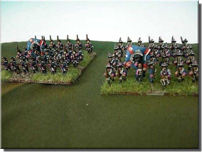 Braunscweig-Bevern and Prinz von Preussen infantry regiments