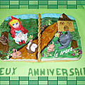 Gâteau le petit chaperon rouge/little red riding hood cake