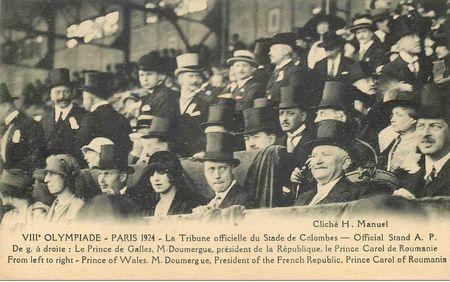 CPA JO Paris 1924 Tribune
