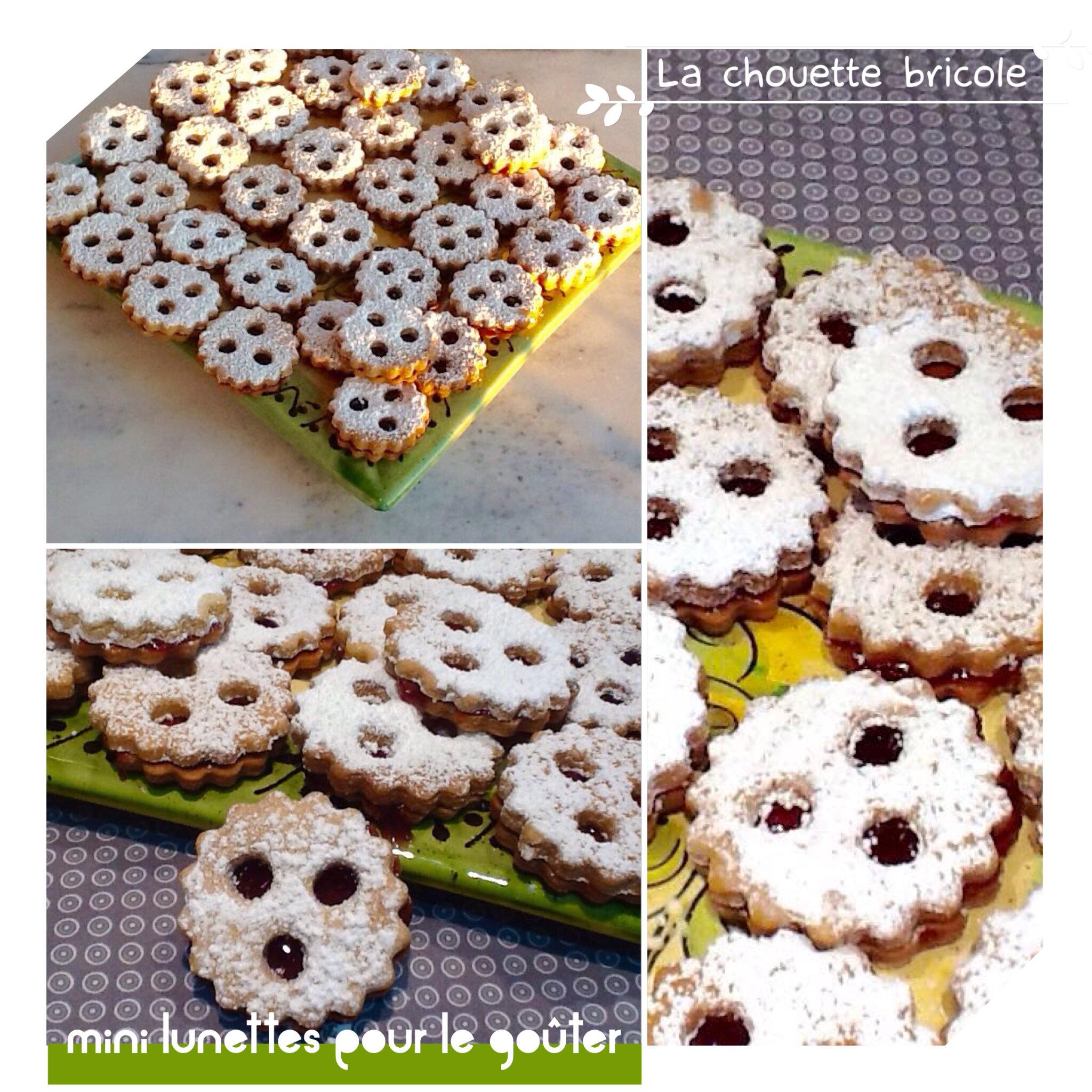 biscuits sablés lunette à la fraises