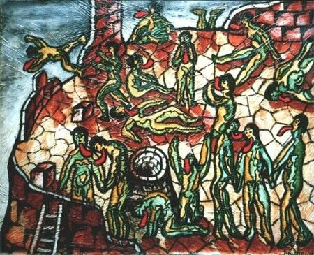 TELLA La tour de Babel 1951 65 x 81