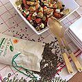 Salade de lentilles - chorizo, artichaut, tomate, olives et feta ^^