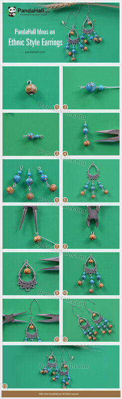 5-PandaHall Ideas on Ethnic Style Earrings