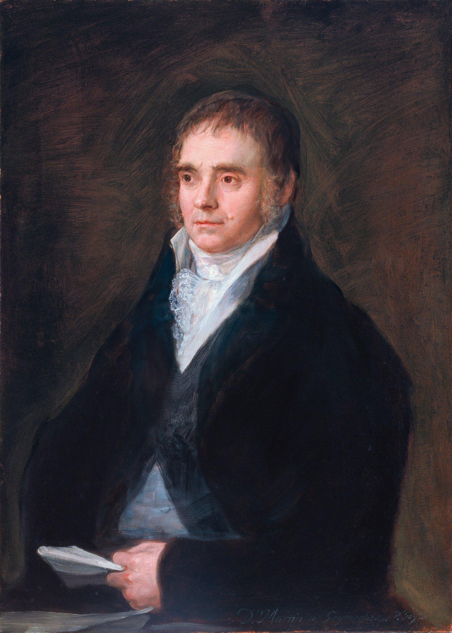 Francisco José de Goya y Lucientes (Spanish, 1746-1828), Portrait of Martín Miguel de Goicoechea, 1810