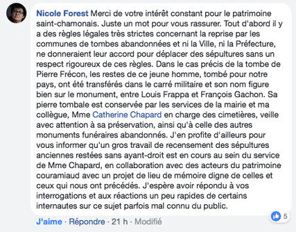Nicole Forest, Facebook, avril 2018