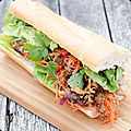 Sandwich banh mi au pulled pork