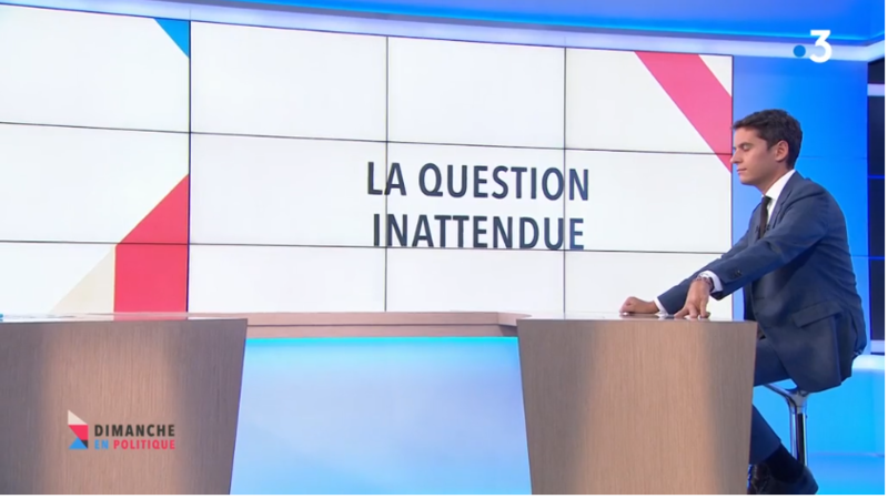 LA QUESTION INATTENDUE ATTAL MEDIA DIXIT WORLD