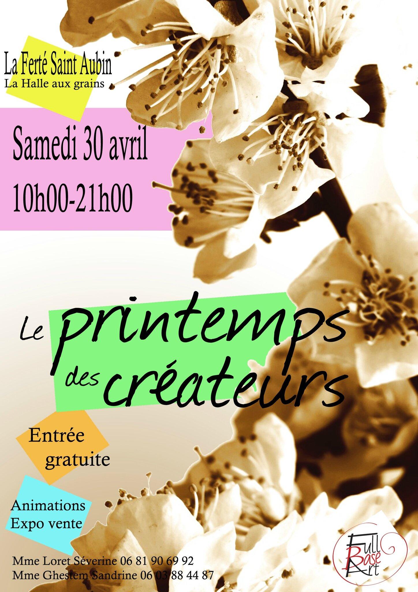 Brocante La Ferte St Aubin le 30 avril, le printemps des créateurs à la ferté st aubin