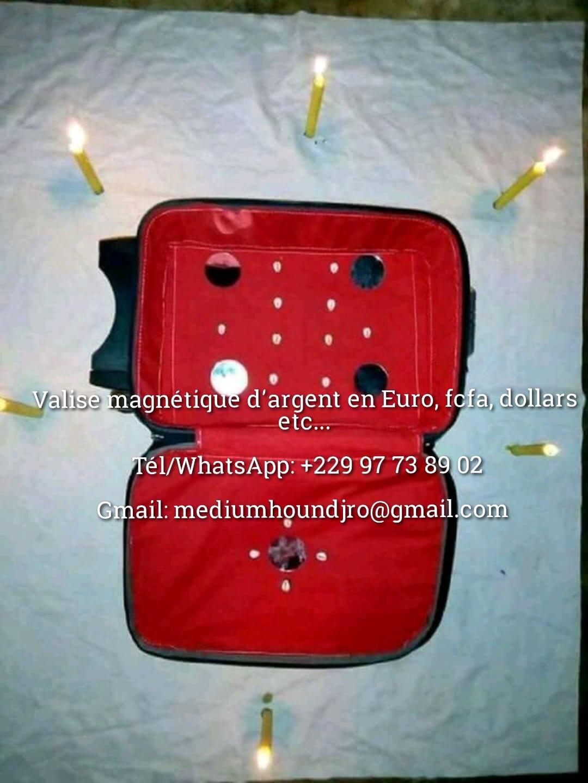 Valise magnétique d'argent, valise magique