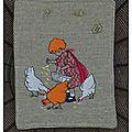 La fillette et les poules