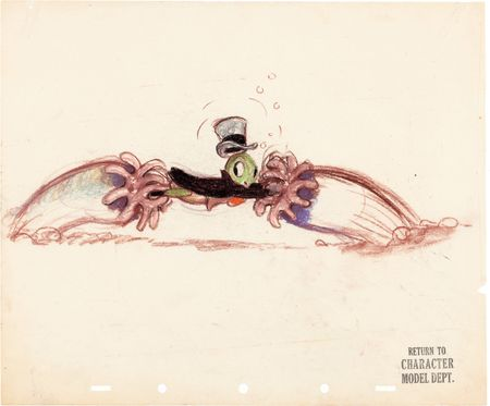 Joe Grant Jiminy Cricket Concept Artwork