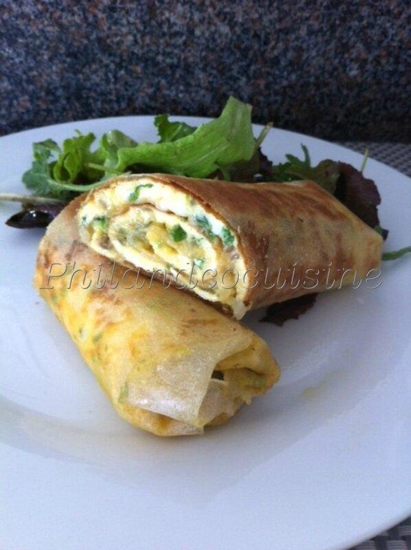 wrap d'omelette croustillante