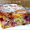 Cake framboise rhubarbe
