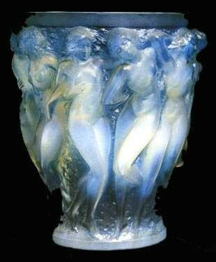 Vase - Bacchantes - Bleuté