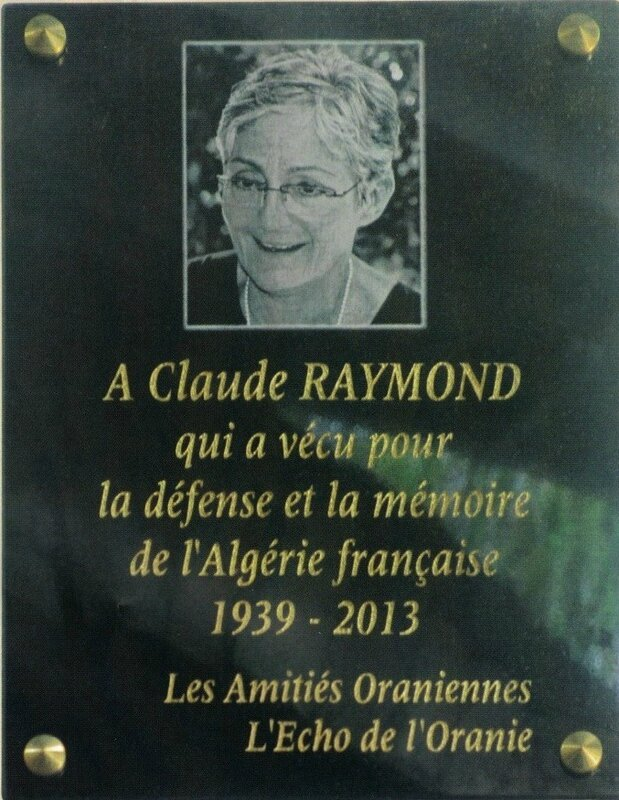 Plaque Santa-Cruz Sandra-Claude Raymond