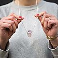 Faire un pendentif avec un quartz violet