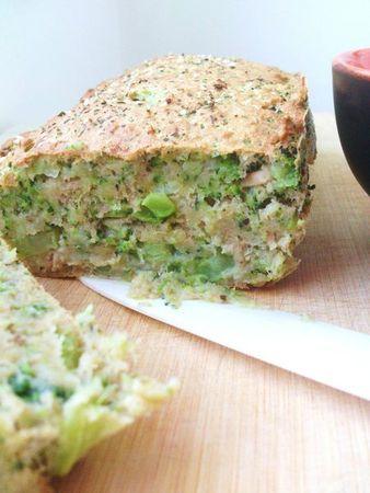 Delphine - Cake fondant au thon et au brocoli