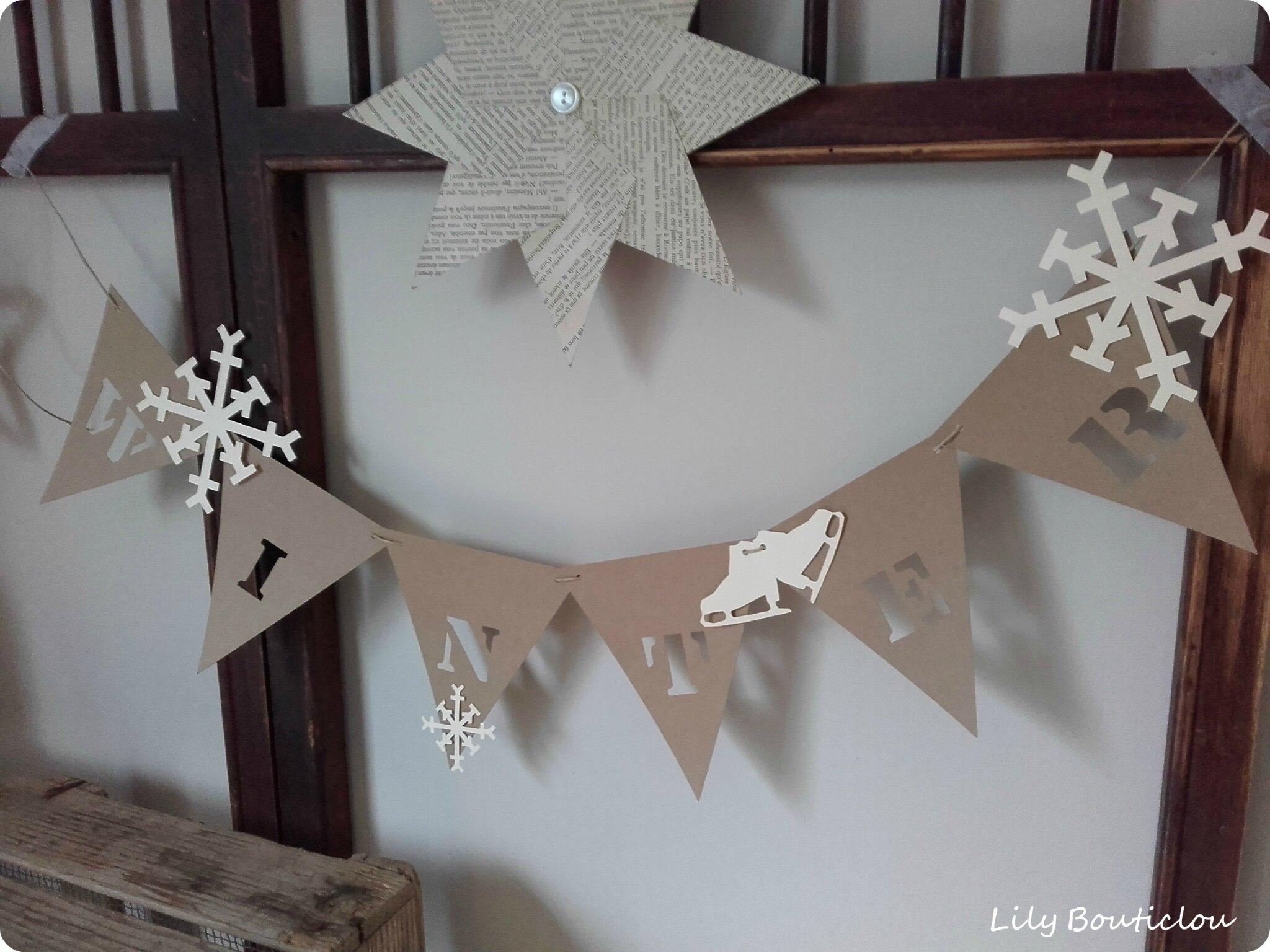 guirlande fanions carton pennant garland cardboard winter 4 lilybouticlou