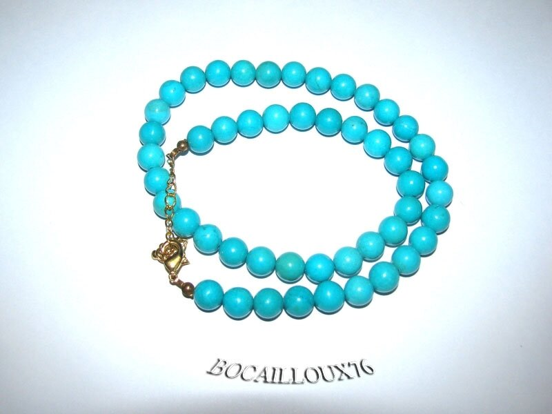 Collier Perles HOWLITE Turquoise 1 (5)