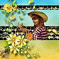 Collab mimi l'abeille desclics et josy creation