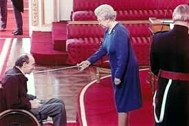 sir frank williams with the queen