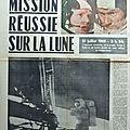 La mission apollo xi dans l'edition spéciale de l'est républicain du 21 juillet 1969
