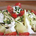 Salade de pommes de terre et courgettes marinées au citron vert