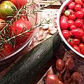 Coulis de tomate, courgette, échalote, ail et romarin