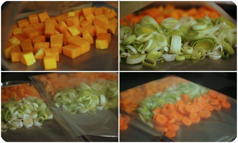 mise sous vide legumes pour soupe blog chez requia cuisine et confidences