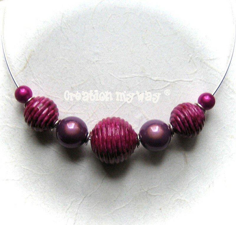 collier perle pate fimo
