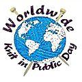 Journée mondiale du tricot dans la rue