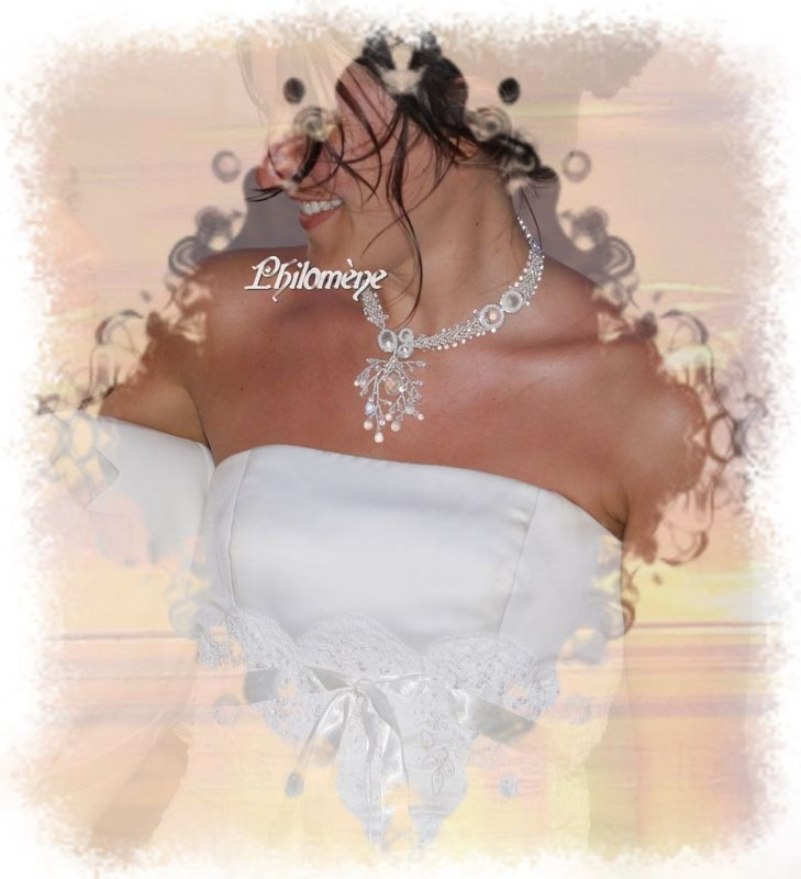 Perles d'eau (sur la vraie mariée)