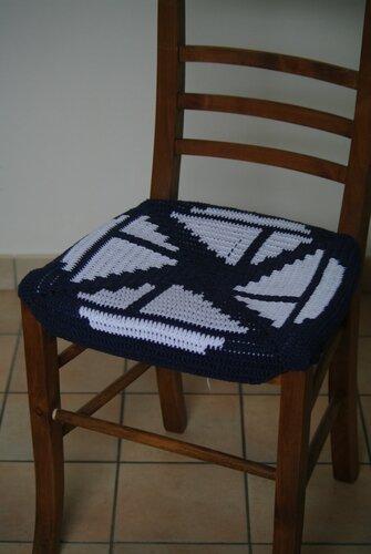crocheter une galette de chaise