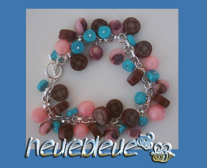 bracelet rose et marron