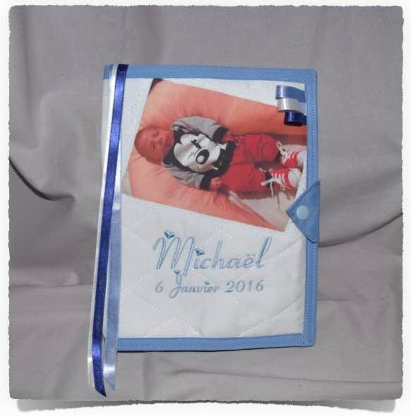 Protège carrnet de santé personnalisé PHOTO MICHAEL