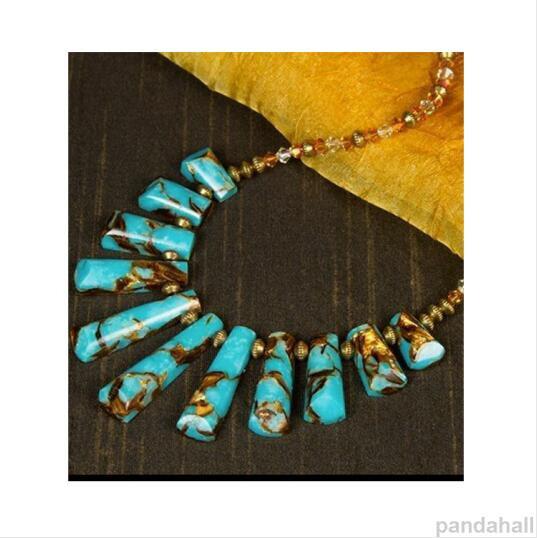 5-collier avec perles turquoises