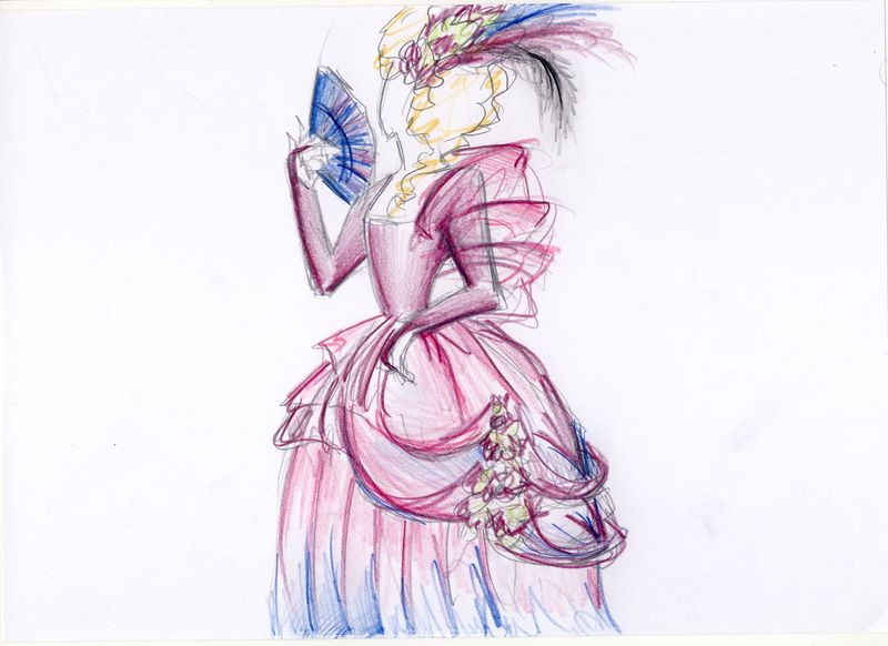 Robe Marie Antoinette Parurre Photo De Dessins Stylisme Perso