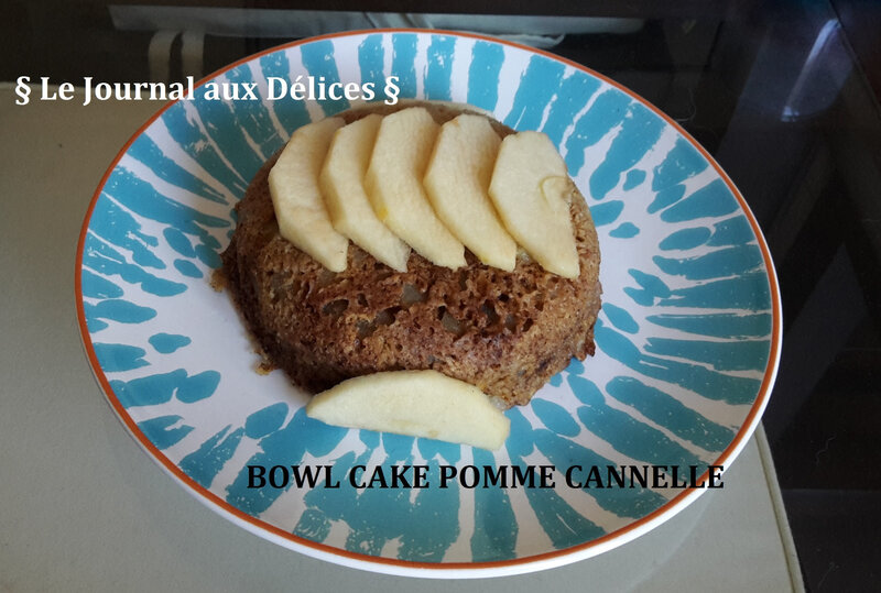 Bowl cake pomme cannelle