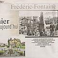 Rubrique ''d'hier à aujourd'hui'' dans le mag er : frédéric-fontaine (70)
