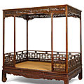 A huanghuali six-poster canopy bed, jiazichuang, early qing dynasty