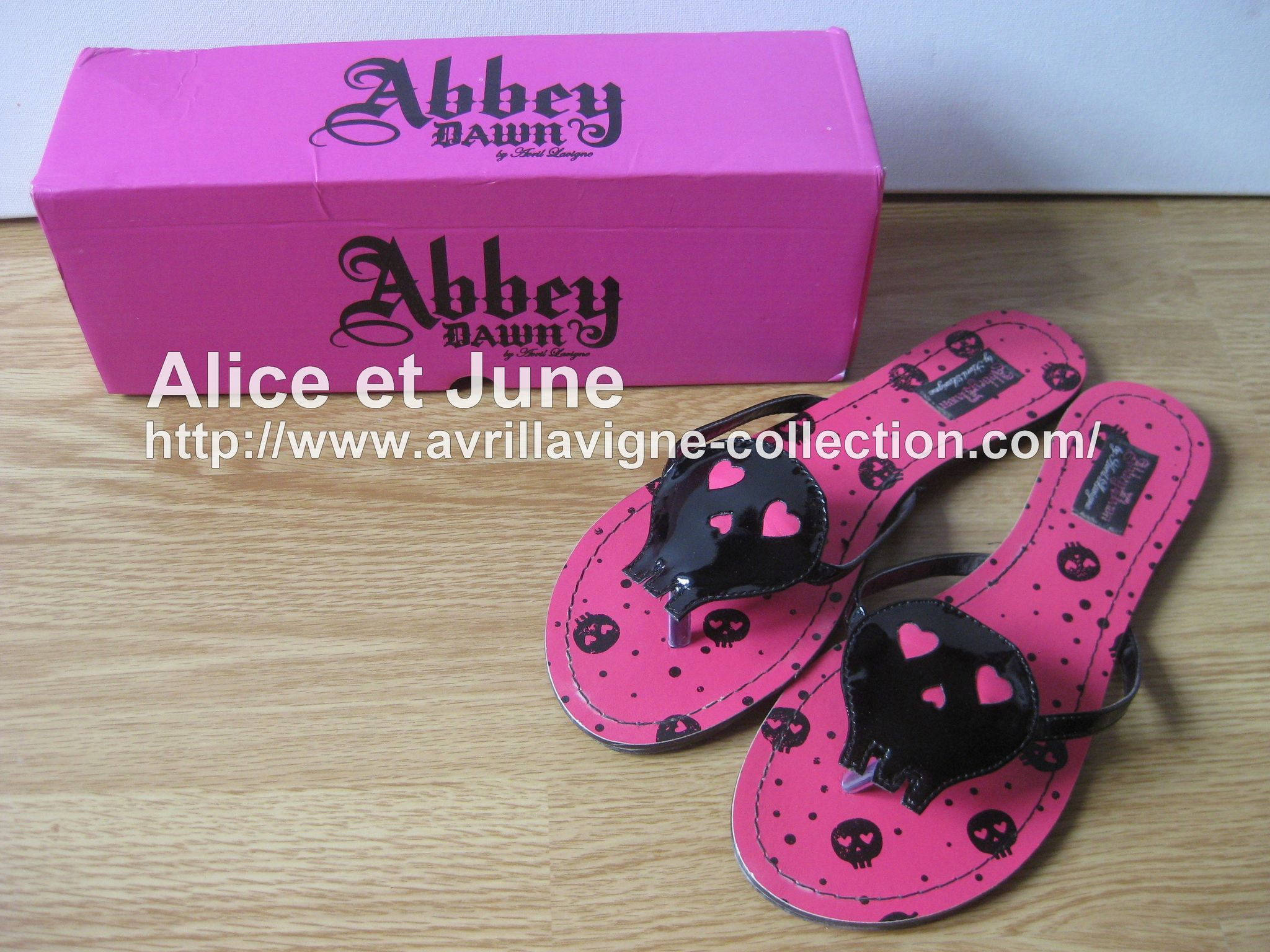 Abbey Dawn Heartcore Flat Sandal